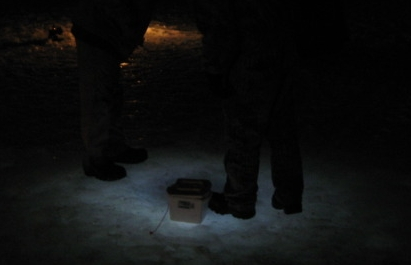 Ice fishing with reel lite 102 led for Ice fishing at night