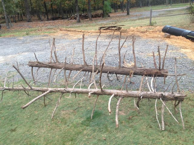 New brush pile for lake conway for Homemade fish structure
