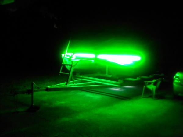 My new fish lights on my boat for Crappie lights for night fishing