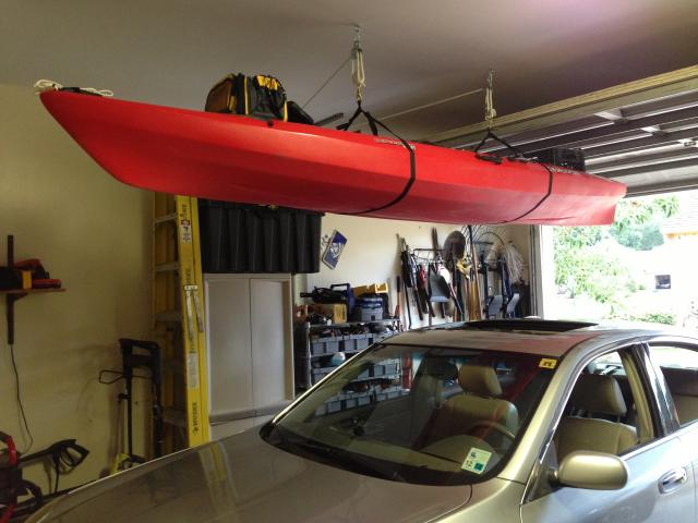 co garage storage wall hangers ceiling smsender racks and attitude kayak tulum