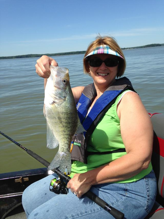 Mid june on kentucky lake for Crappie fishing in ky