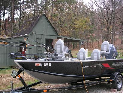 My boat setup for Crappie fishing boats