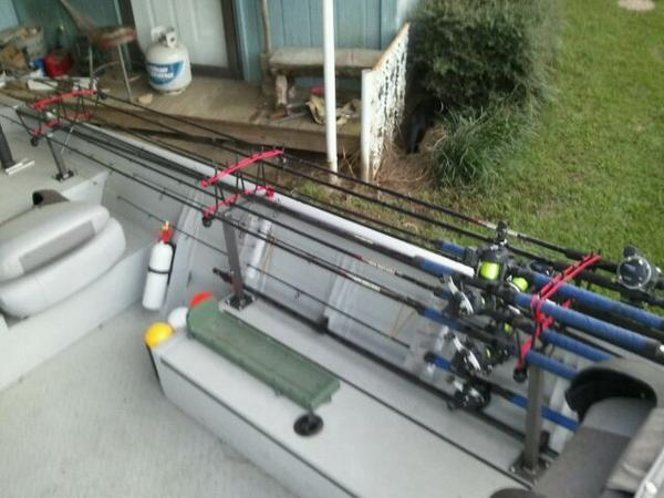 Need ideas on horizontal rod racks for Fishing rod storage ideas