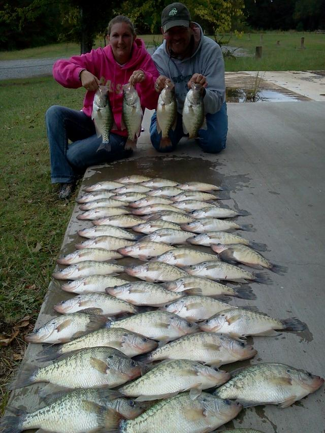 Sardis guide for Crappie fishing in mississippi