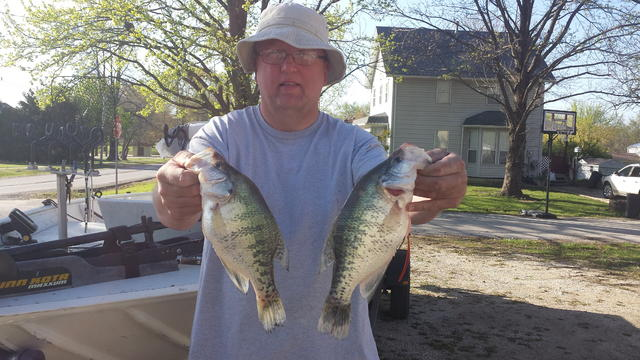 Love is in the water on the upper grand for Crappie fishing in missouri