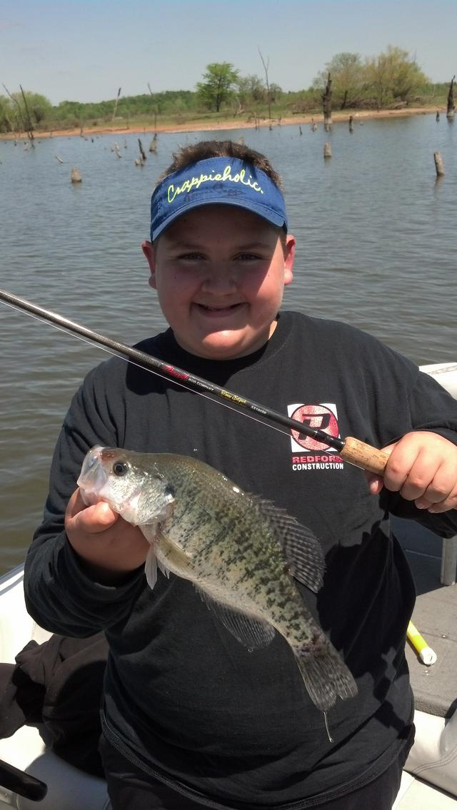 Up the grand saturday for Crappie fishing in missouri