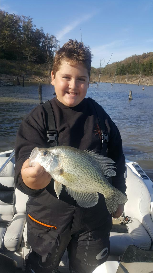 To the bottom on truman today for Crappie fishing in missouri