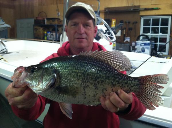 Fly Fishing for Crappie High Rock Lake NC March 12 2016