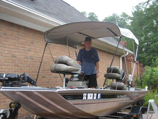 Looking for some shade? Added bonus to the add a seat ...   Bass Boat Umbrella