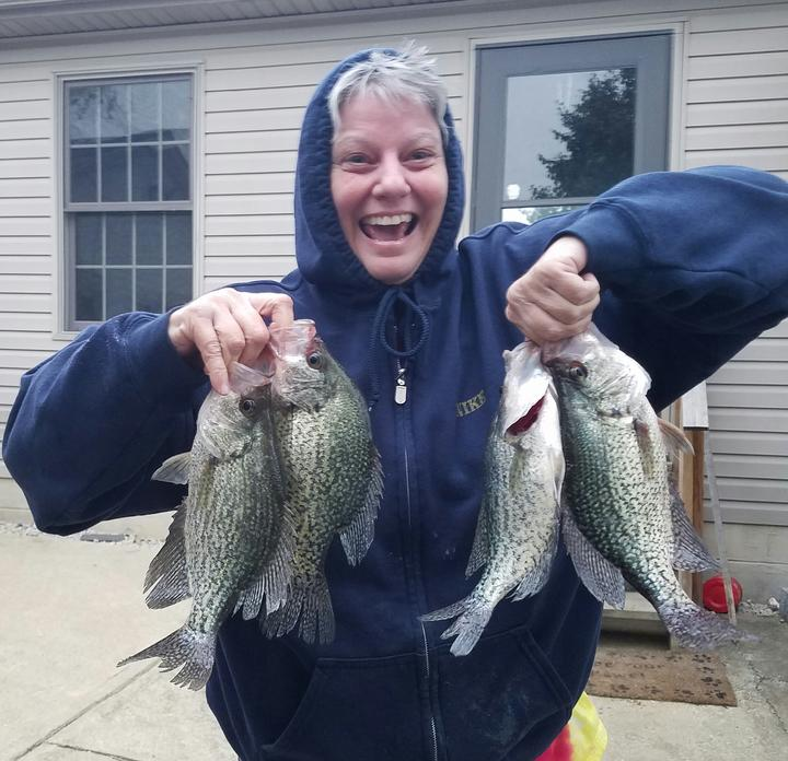 Paint creek fishing report for Crappie fishing ohio