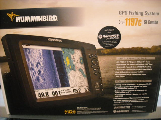 humminbird 1197c si combo nvb side imaging unit for sale w/extras, Fish Finder