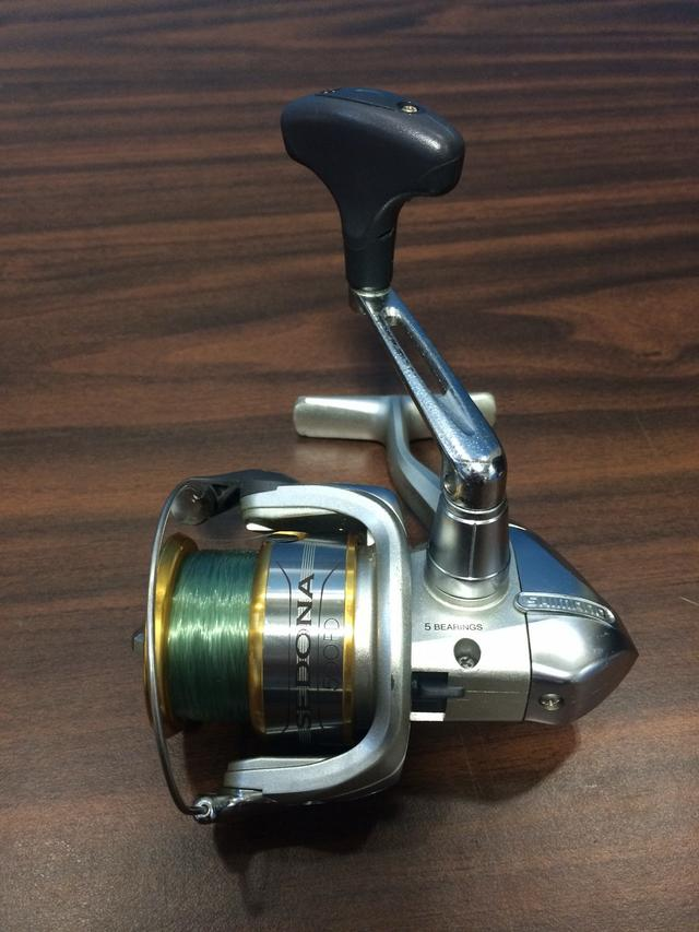 Two used shimano sedona 2500fd spinning reels for sale for Crappie fishing reels