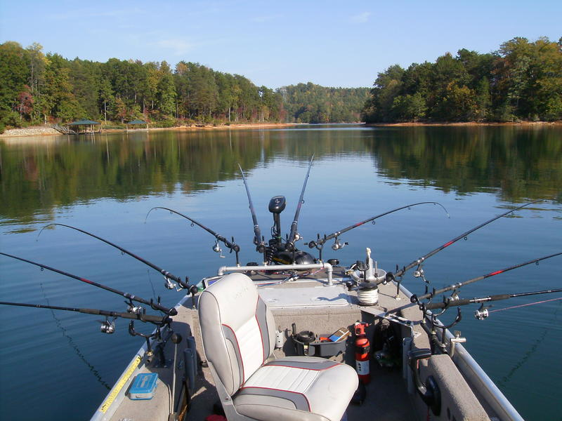 Spider rigging for Crappie fishing rigs