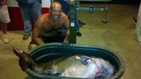 New world record catfish kerr lake for Kerr lake fishing hot spots
